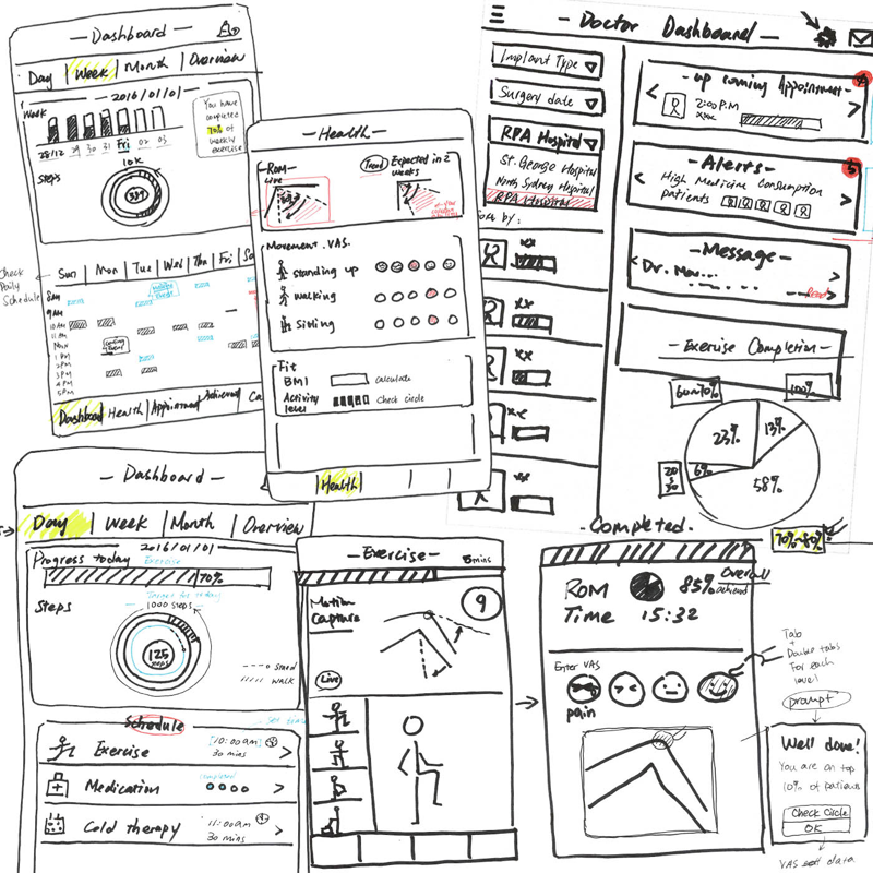 LoFi wireframes from the first session