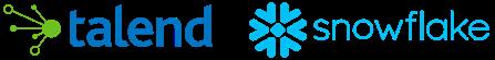 Talend Snowflake logos